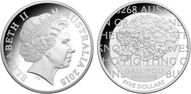 "Australia, 5 dollars (silver), ""100th Anniversary of the Gallipoli Landing"" (KM-2197)"