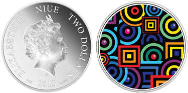 "Niue, 2 dollars (silver), ""Chromadepth (3D Technology Allows Colors to Hover Over Coin)"" (KM-1296)"