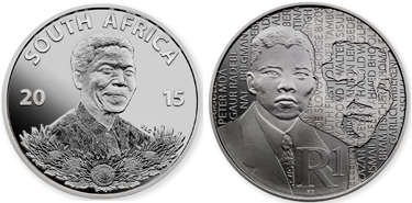 "South Africa, 1 rand (silver), ""Life of Nelson Mandela"" (KM-585)"