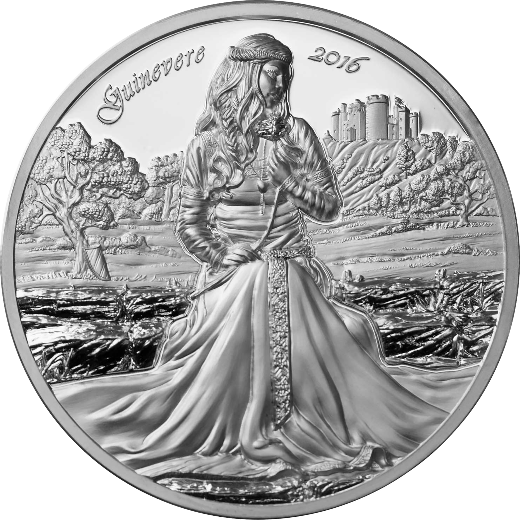 guinevere joins king arthur in ultra high relief camelot series