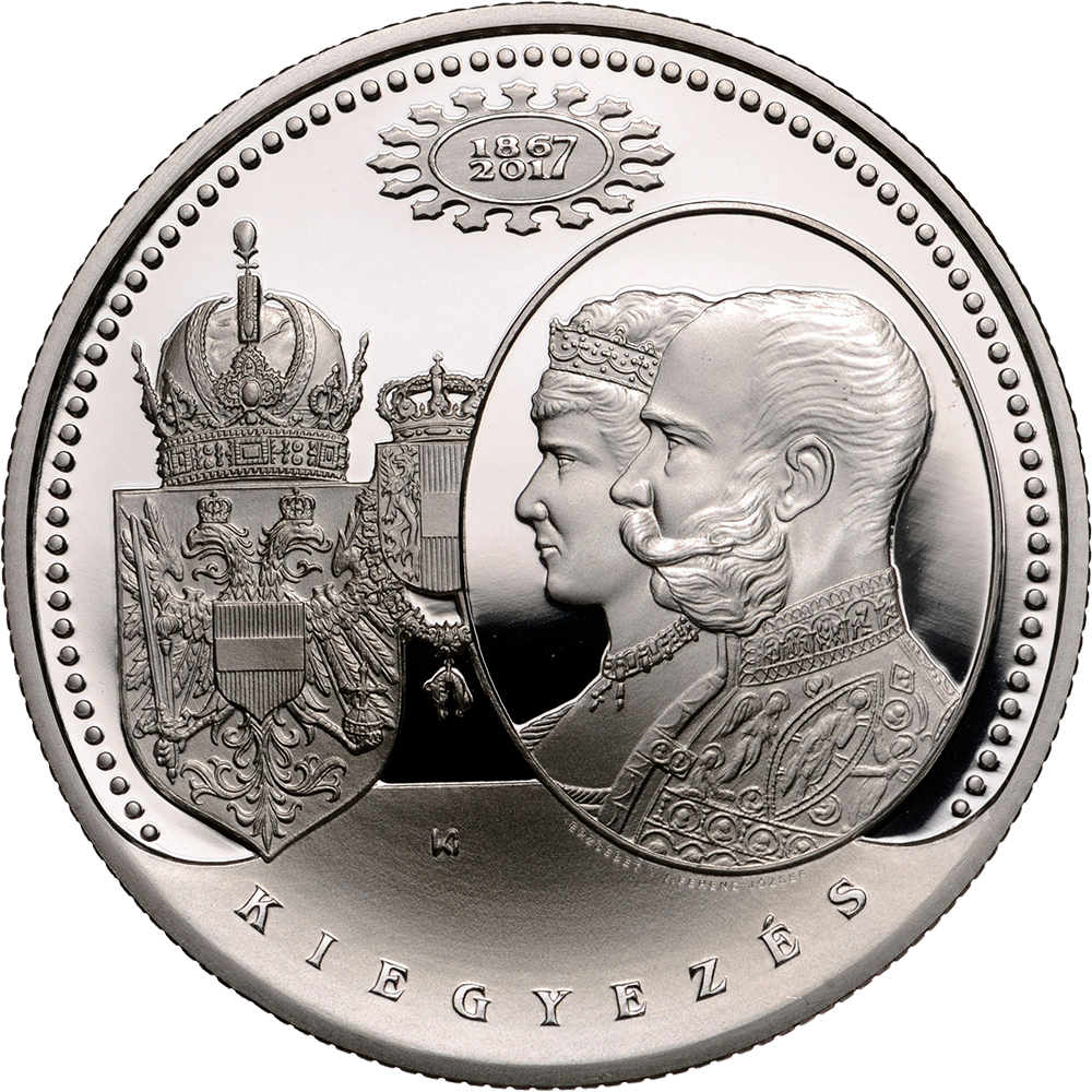 reverse of 2017 Hungary 20000 forint commemorating the Compromise of 1867