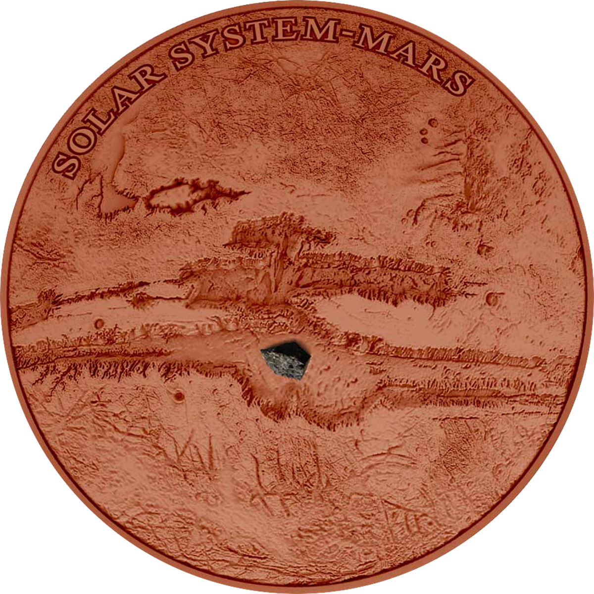 Niue Mars Third Coin In Ultra High Relief Solar System
